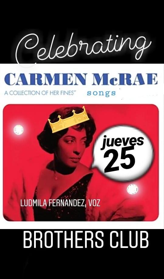 Ludmila Fernández presenta Celebrating CARMEN McRAE