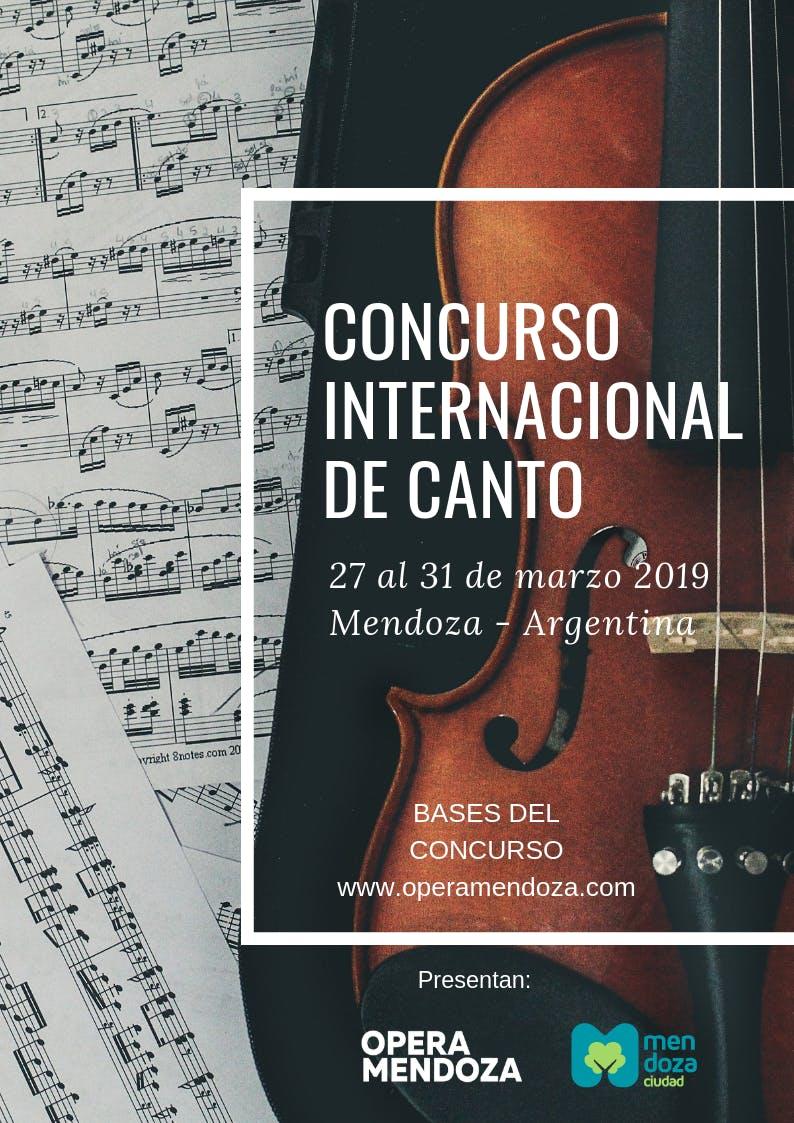 CONCURSO DE CANTO  LIRICO INTERNACIONAL