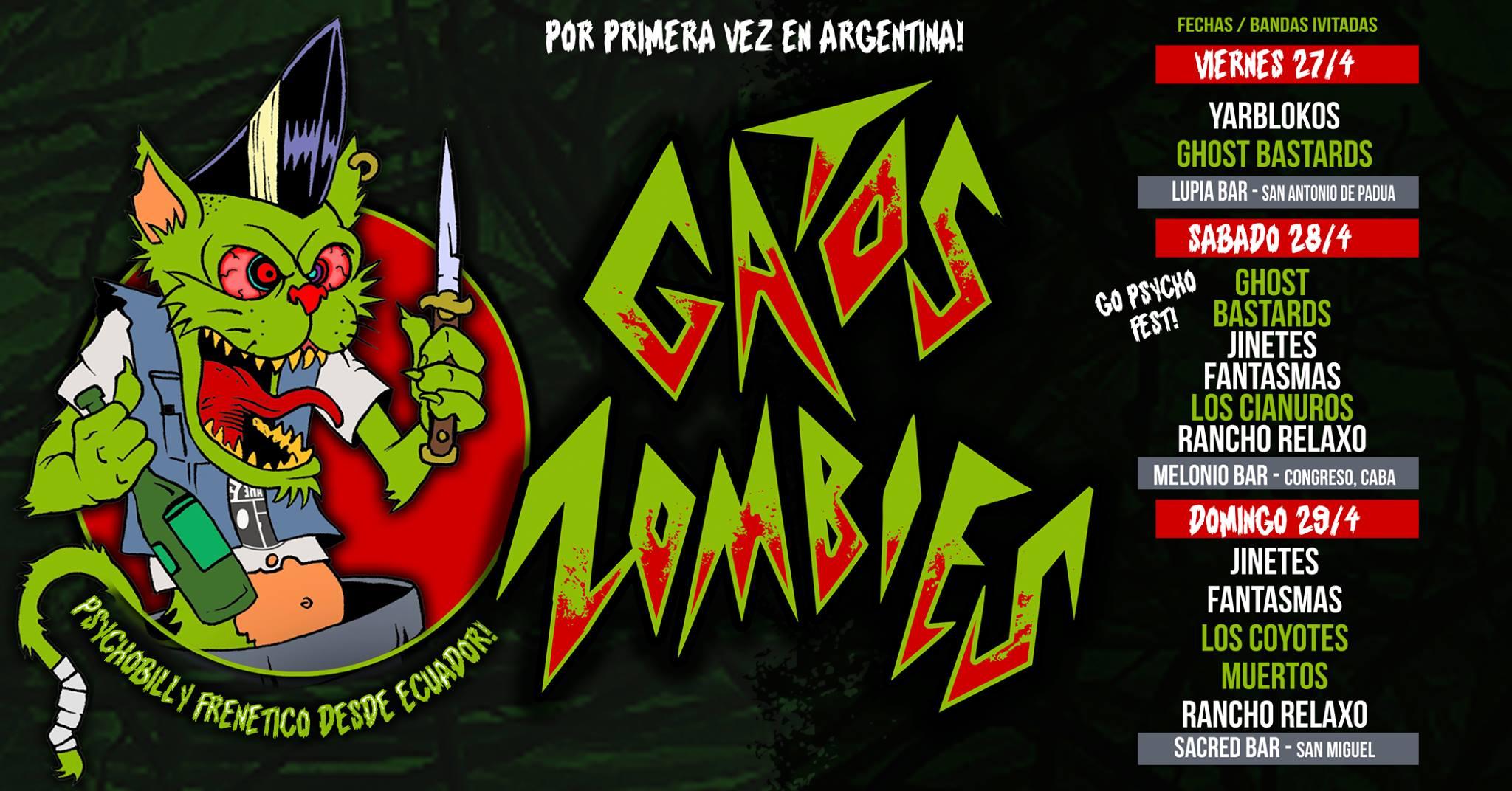 Gatos Zombies en Argentina! Psychobilly desde Ecuador!