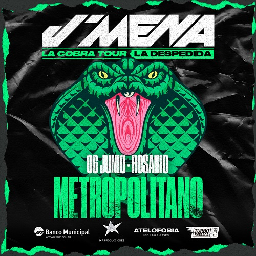 "¡J' Mena despide ""La Cobra Tour"" en Rosario!"