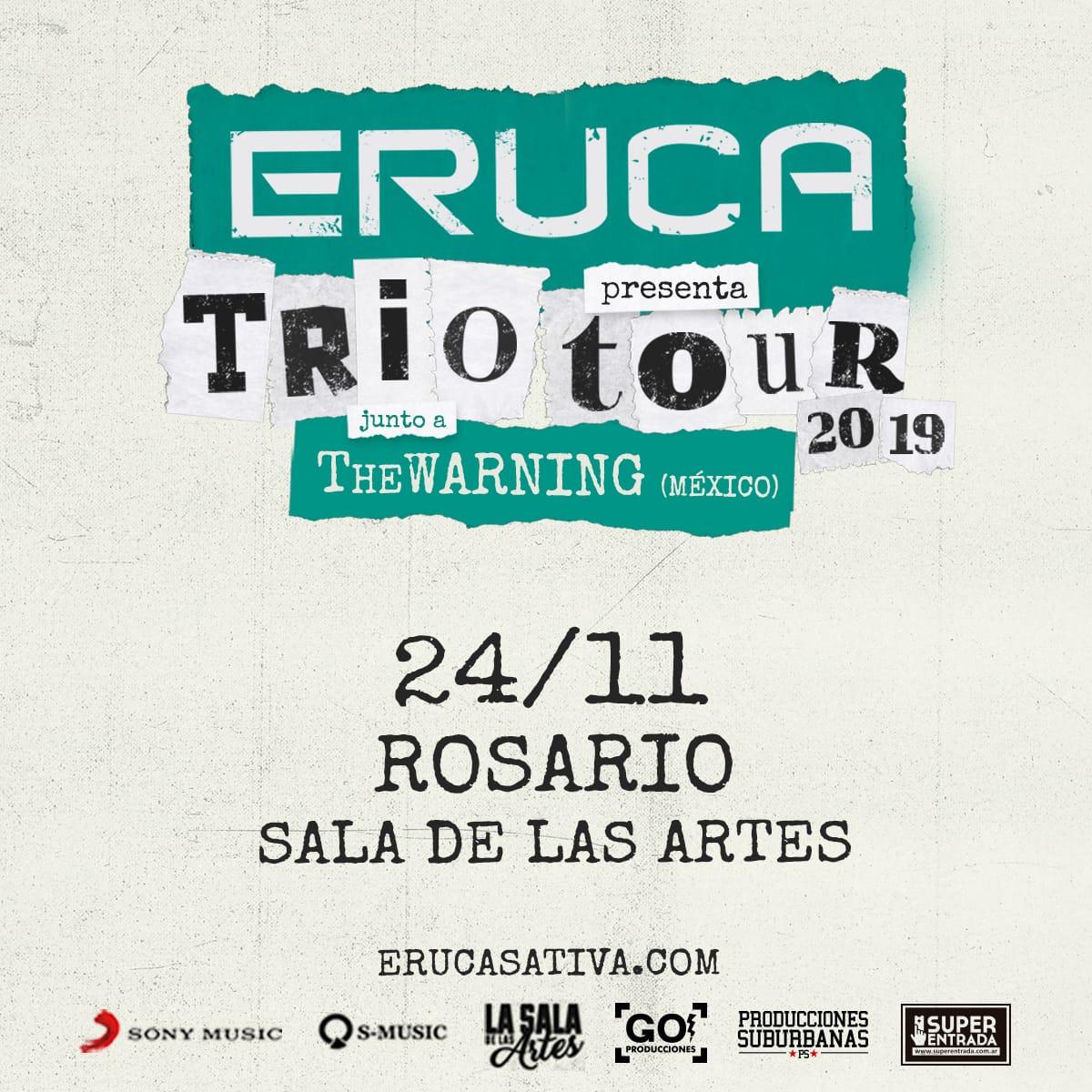 Eruca Sativa presenta Trío Tour en Rosario