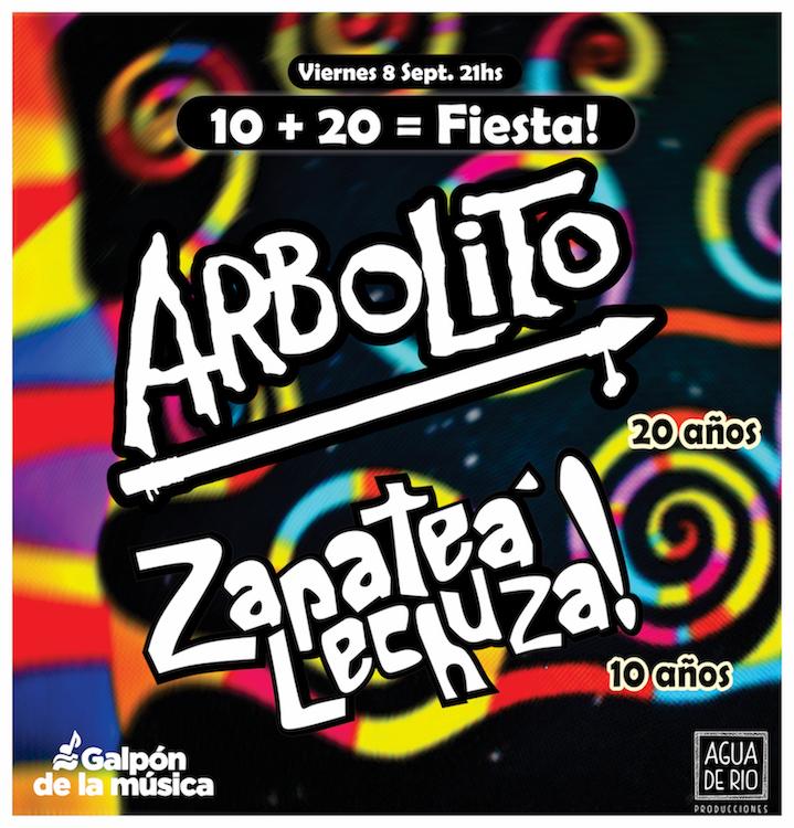 ARBOLITO - 20 AÑOS ZAPATEÁ LECHUZA - 10 AÑOS 20 + 10 = ¡FIESTA!