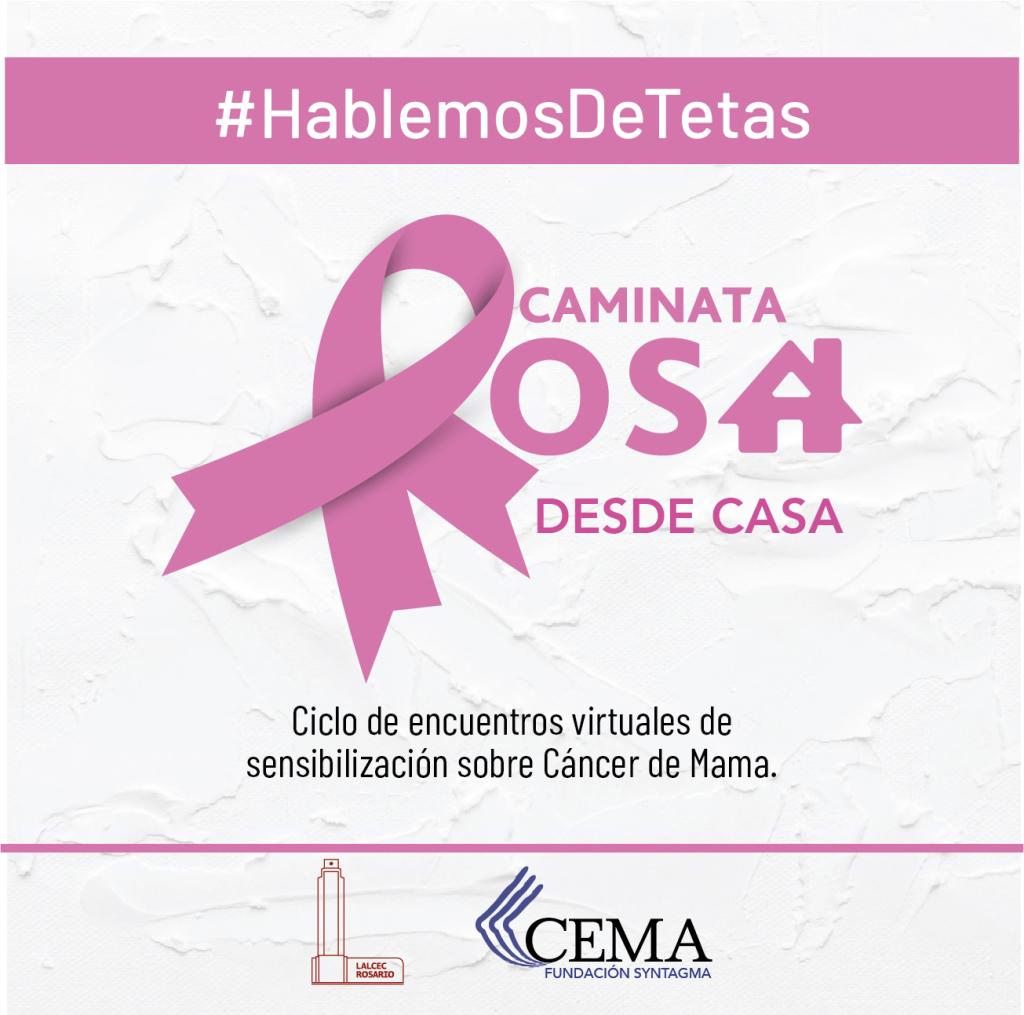 #HablemosDeTetas. CAMINATA ROSA desde casa