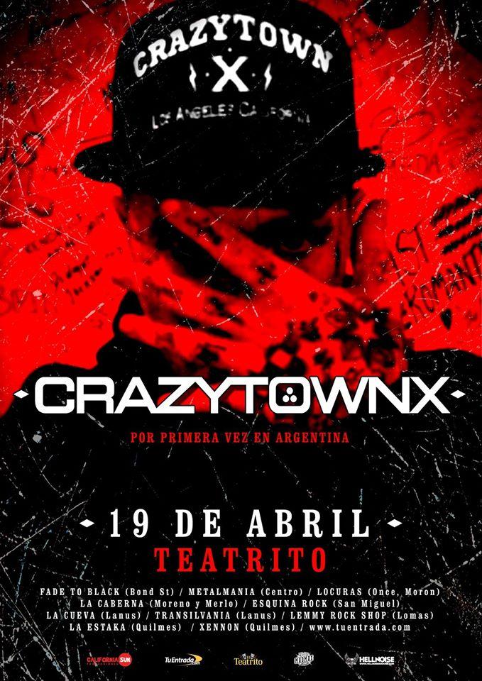 Crazy Town por primera vez en Argentina