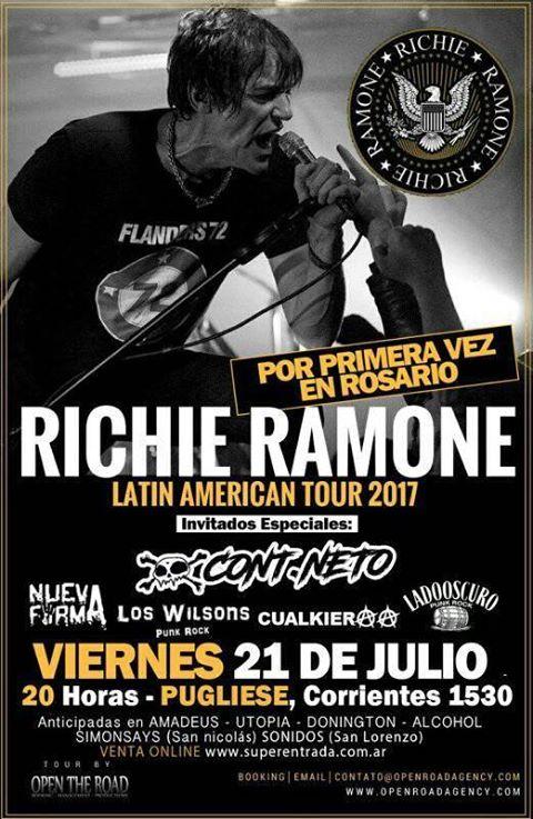 RICHIE RAMONE ¡ Por primera vez en ROSARIO !