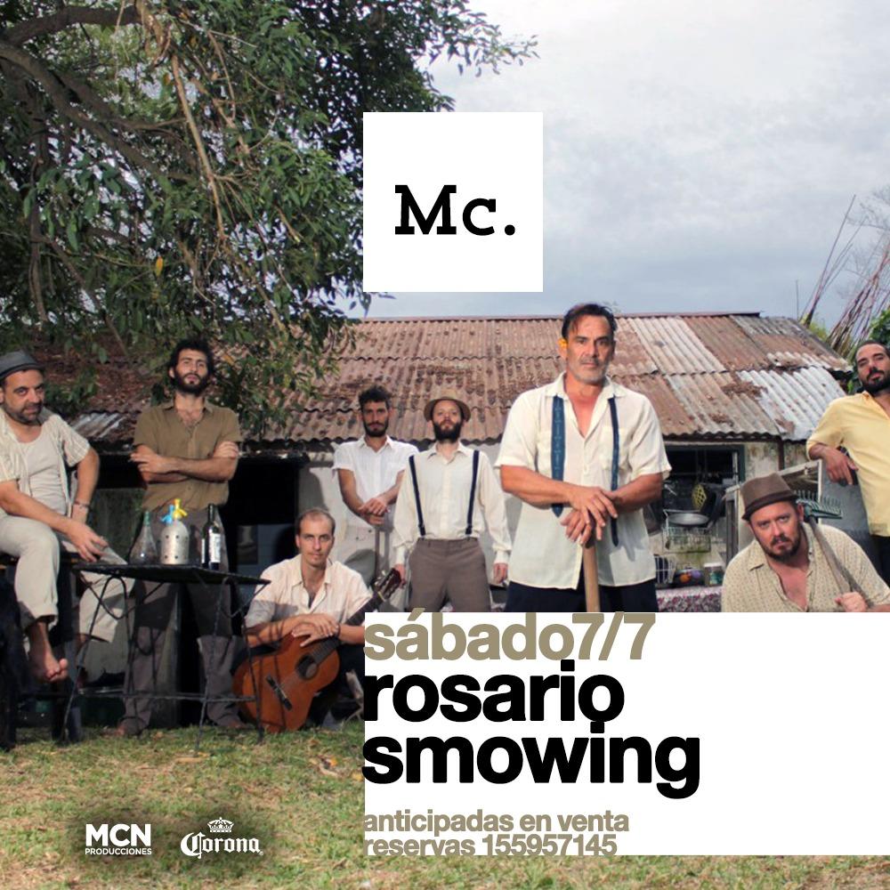 """ROSARIO SMOWING se despide de Rosario antes de un nueva Gira """"Europa 2018"""""""