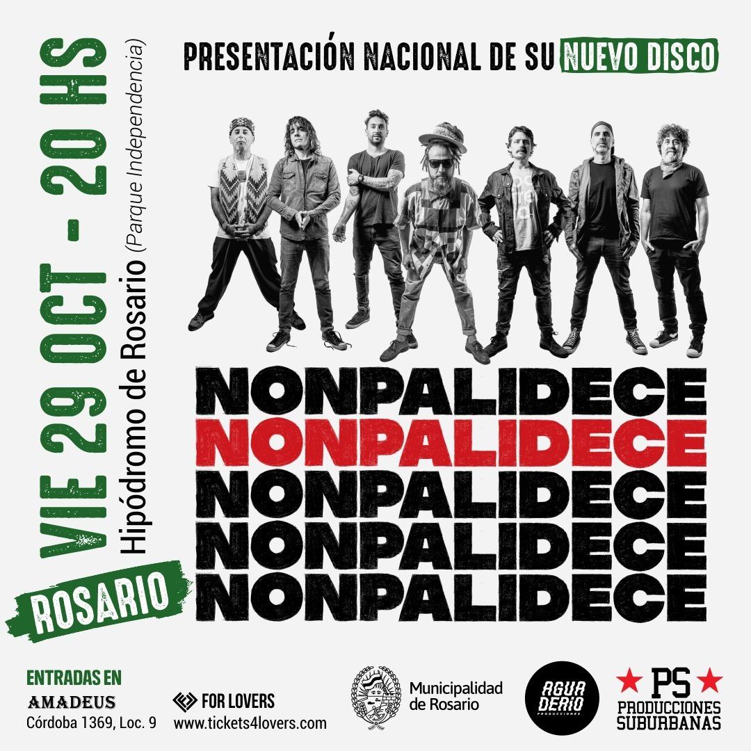 ¡Nonpalidece presenta su nuevo disco en Rosario!