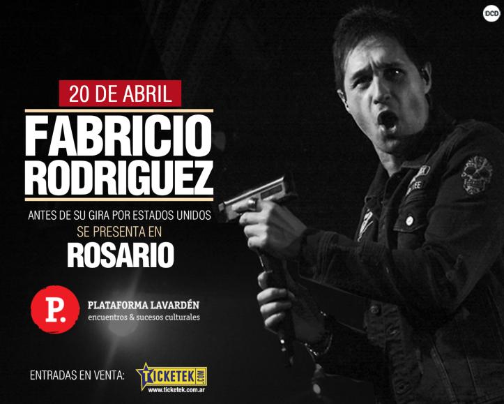 FABRICIO RODRÍGUEZ antes de su Gira por USA vuelve a ROSARIO