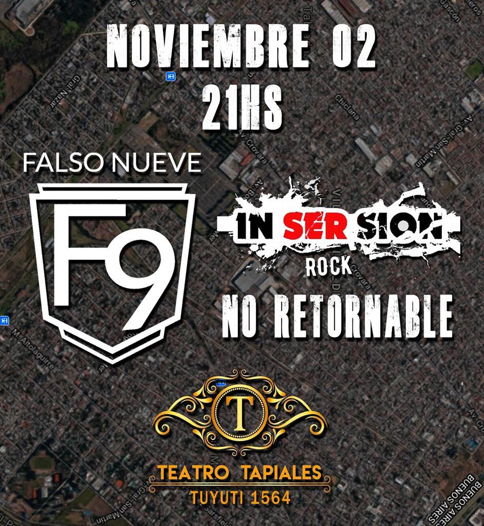 2/11 Falso Nueve en Teatro Tapiales