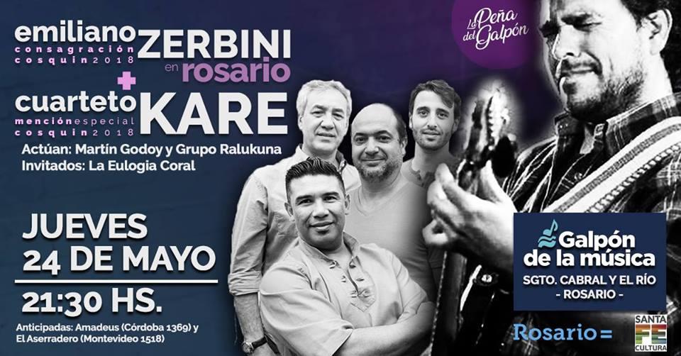 Emiliano Zerbini y el Cuarteto Karê en la Peña del Galpón de la música