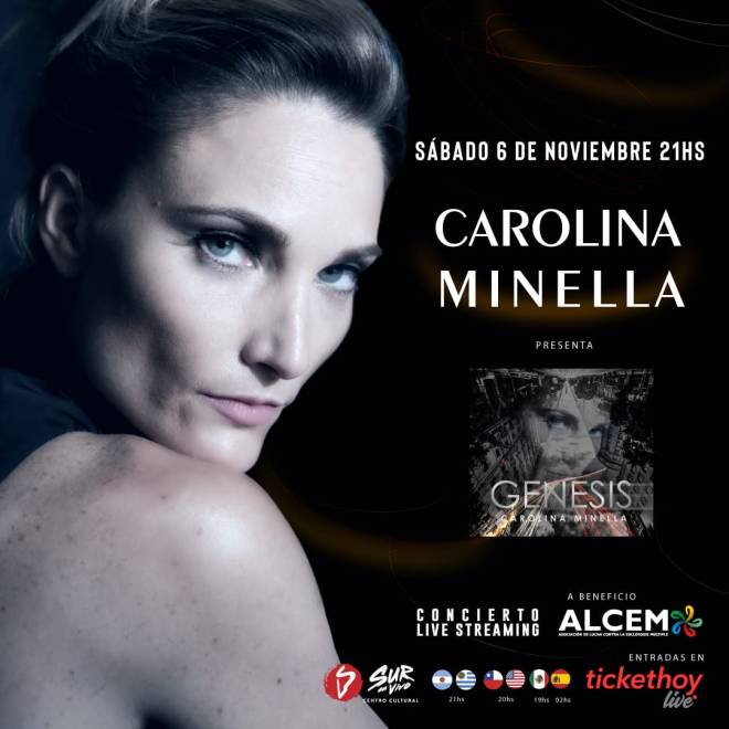 Carolina Minella presenta Genesis a beneficio de ALCEM