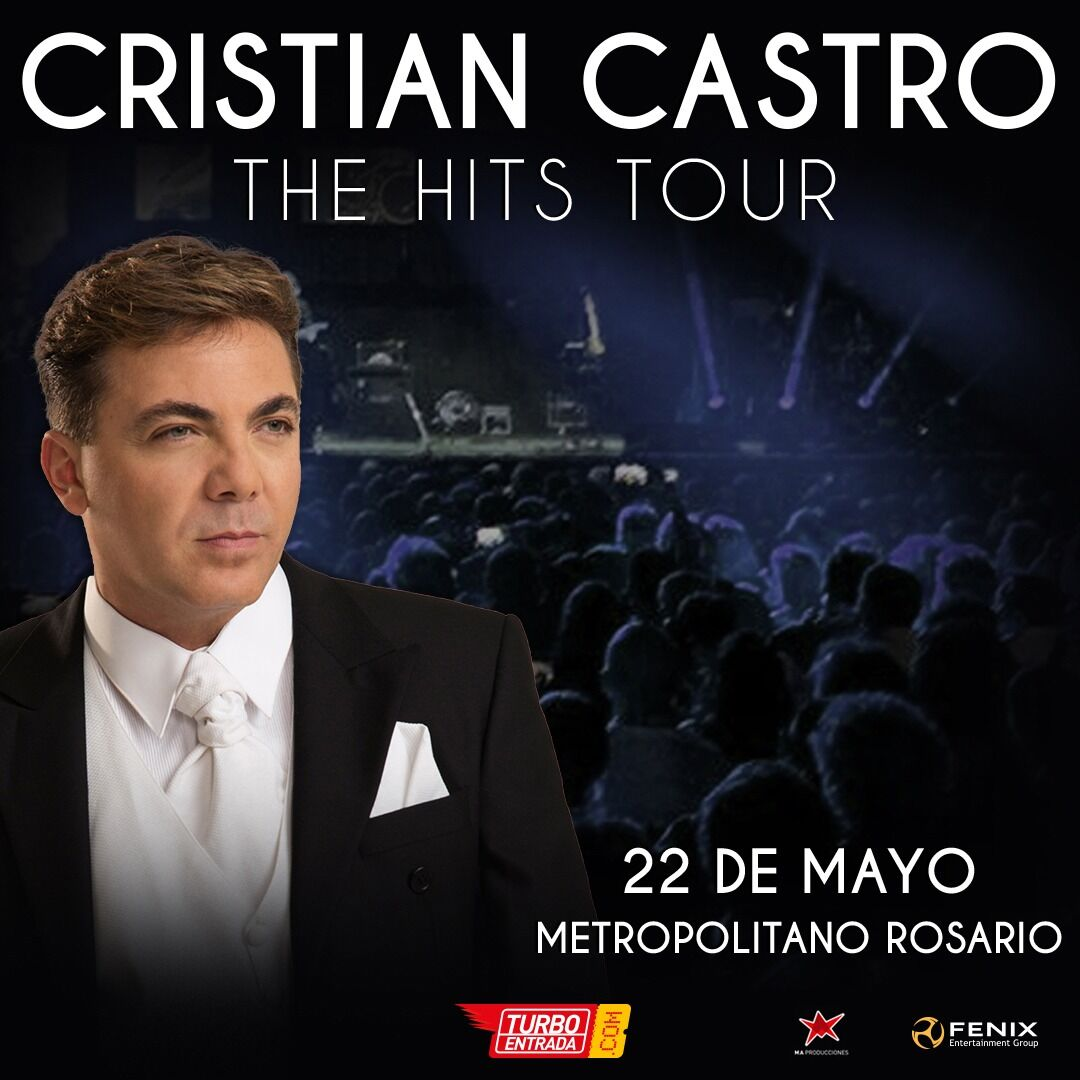 "Cristian Castro regresa a Argentina ""The Hits Tour"""