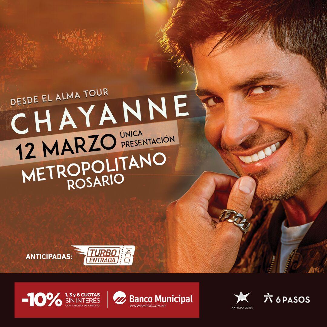 """Chayanne regresa a Rosario con su Gira """"Desde el Alma Tour"""" ¡Única Presentación!"""