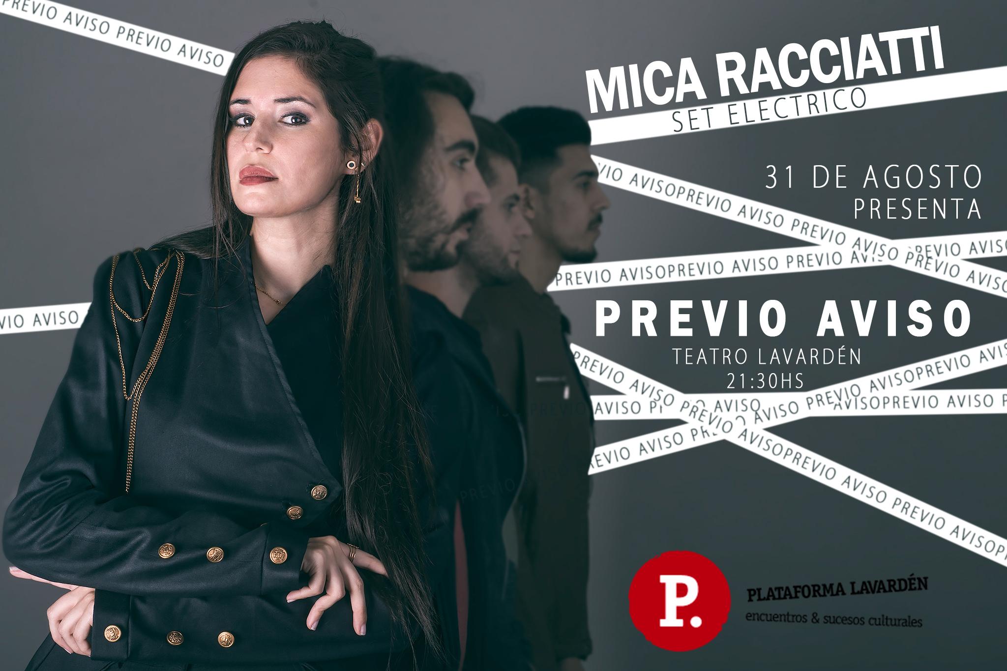 Mica Racciatti presenta su álbum debut