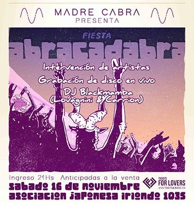 ¡Madre Cabra presenta Fiesta Abracadabra!