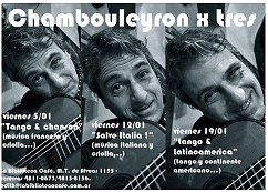 CHAMBOULEYRON X TRES: TANGO Y LATINOAMÉRICA