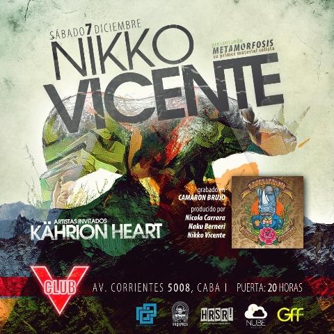 Nikko Vicente presenta Metamorfosis en Club V