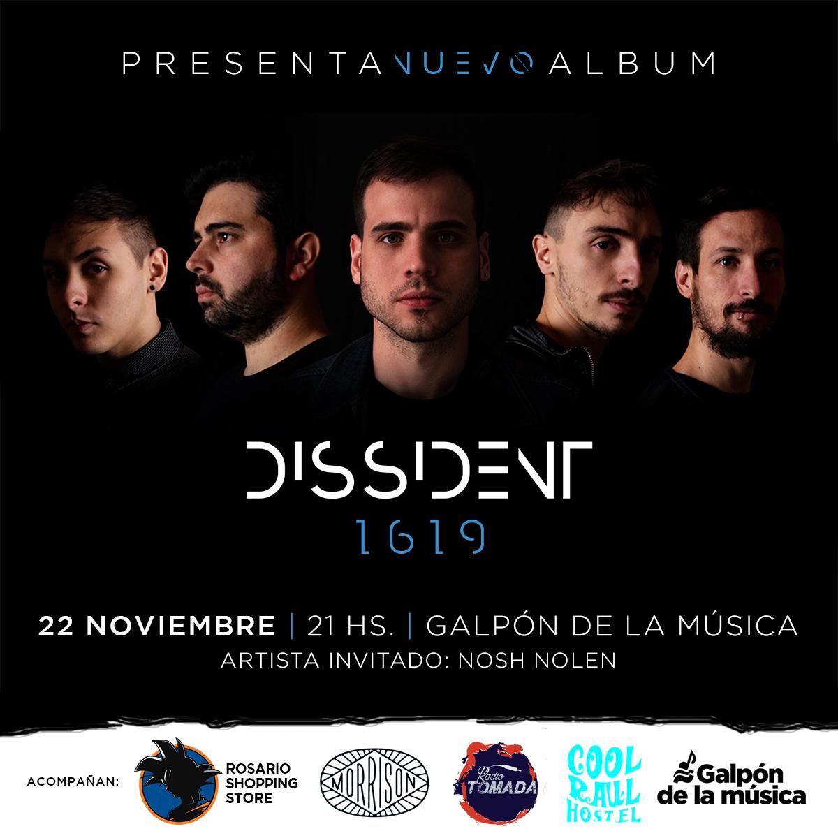 """Dissident presenta su disco """"1619"""""""