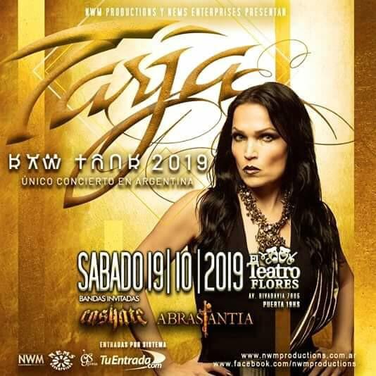 ¡Abrasantia abre la única noche de Tarja en Argentina!