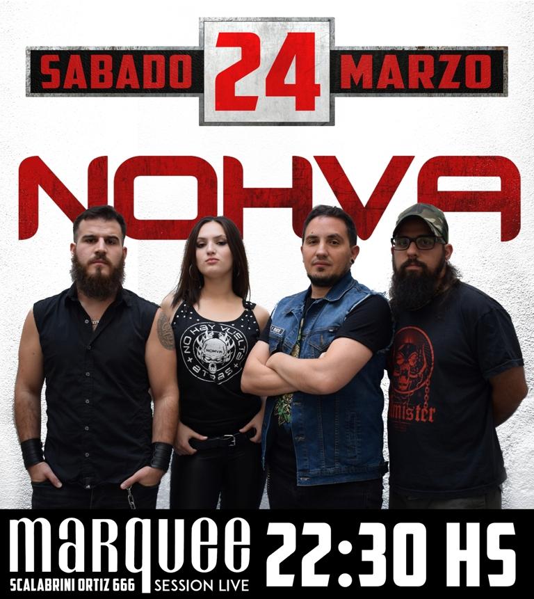Nohva regresa con un show en el Marqueé junto a Pájaro Negro